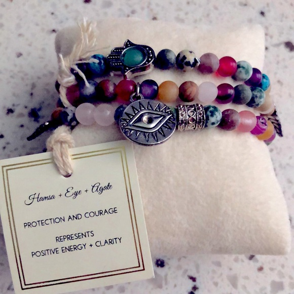 Stunning stone and charm bracelet